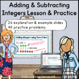 Adding & Subtracting Integers Lesson & Practice (PPT & Digital Resource)