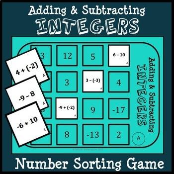 Adding Integers Flash Cards Teaching Resources | Teachers Pay Teachers