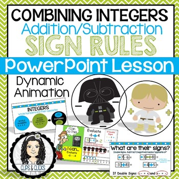 Adding / Subtracting Integers PowerPoint Lesson