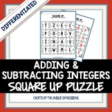 Adding & Subtracting Integers Puzzle