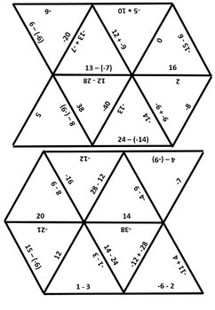 Adding & Subtracting Integers Puzzle {Tarsia} 7.NS.1