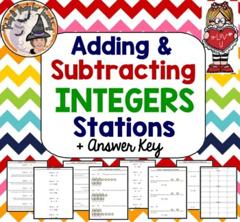 Adding and Subtracting Integers STATIONS Applications Add Subtract Smartboard