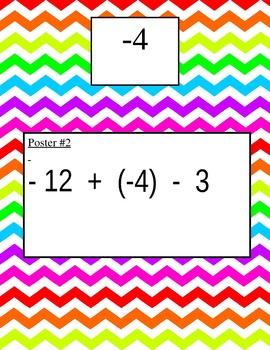 Adding & Subtracting Integers Scavenger Hunt