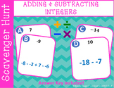Adding & Subtracting Integers Scavenger Hunt