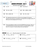 Adding & Subtracting Integers Worksheet