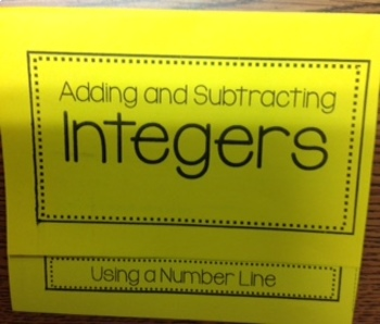 Adding/Subtracting Integers with Number Line Foldable