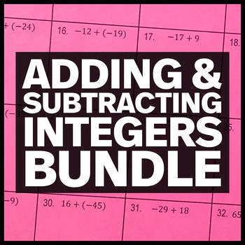 Adding & Subtracting Integers Bundle