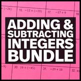 Adding & Subtracting Integers - Middle School Math Activity Bundle