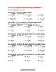 Adding & Subtracting Intergers Worksheet #1