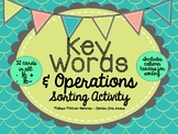 Adding & Subtracting Key Word Sorting Activity - Task Card