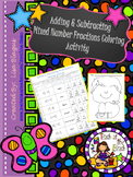 Adding & Subtracting Mixed Number Fractions Coloring Activity