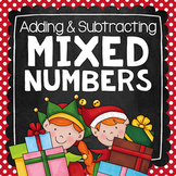 Adding & Subtracting Mixed Numbers Task Cards