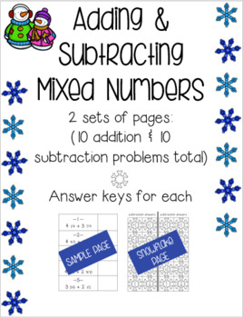 Adding & Subtracting Mixed Numbers