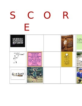 Adding & Subtracting Mixed Numbers Baseball Theme BINGO/ SCORE Game