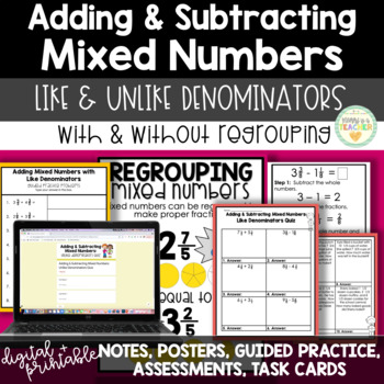 Add/Subtract Mixed Numbers-Like Denominators: Activities,