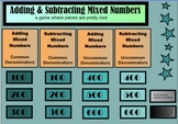 Adding & Subtracting Mixed Numbers Game SMARTBoard Notebook!