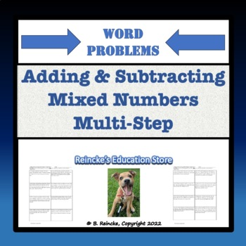 adding subtracting mixed numbers multi step word problems 5 worksheets. Black Bedroom Furniture Sets. Home Design Ideas