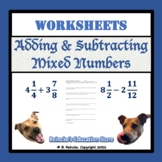Adding & Subtracting Mixed Numbers Packet (12 worksheets)