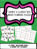 Adding & Subtracting Mixed Numbers Puzzle