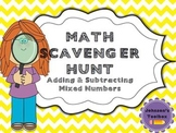 Adding & Subtracting Mixed Numbers Scavenger Hunt