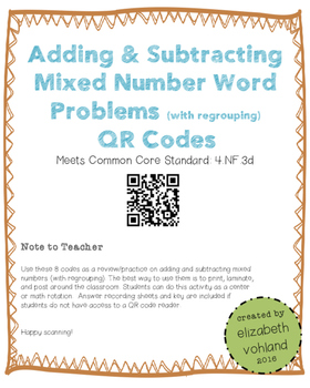 Adding & Subtracting Mixed Numbers Word Problems