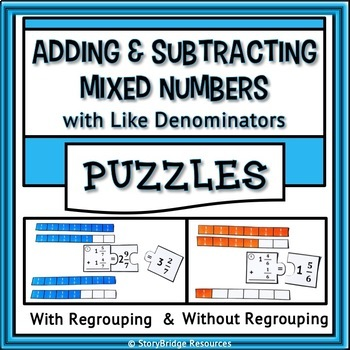 Subtract Mixed Numbers Like Denominators Teaching Resources ...