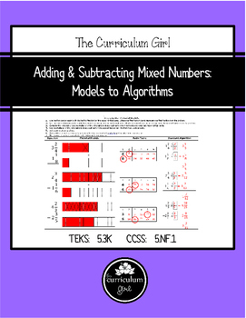 Adding & Subtracting Mixed Numbers: Models to Algorithms (