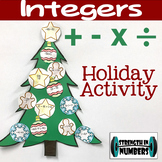 Adding, Subtracting, Mulitplying, Dividing Integers Christmas Tree Activity