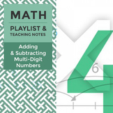 Adding & Subtracting Multi-Digit Numbers - Playlist and Teaching Notes