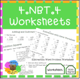 Adding & Subtracting Multi-Digit Whole Numbers - 4.NBT.4 Worksheets