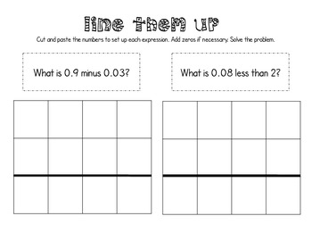 Adding, Subtracting, Multiplying + Dividing Decimals Interactive Notebook