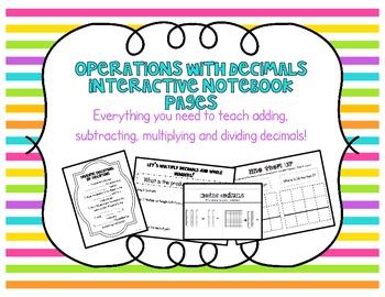 Adding, Subtracting, Multiplying + Dividing Decimals Inter