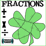 Adding Subtracting Multiplying Dividing FRACTIONS St. Patrick's Day Puzzle