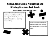 Adding, Subtracting, Multiplying & Dividing Fractions Task Cards