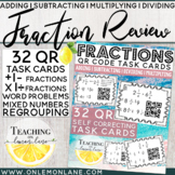 Adding Subtracting Multiplying Dividing Fractions Task Cards QR Code