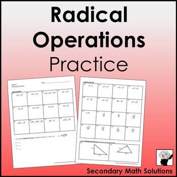 Adding, Subtracting, Multiplying & Dividing Radicals (with Quadratic Formula)