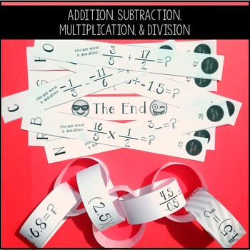 Adding, Subtracting, Multiplying, & Dividing Rational Numbers Chain Activity