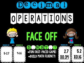 Adding, Subtracting, Multiplying. and Dividing Decimals 5.NBT.7 Face Off