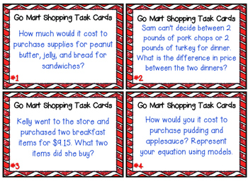 Adding, Subtracting, Multiplying and Dividing Decimals Task Cards 5.NBT.7