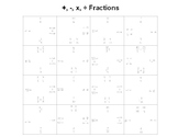 Adding Subtracting Multiplying and Dividing Fractions Fun Square Puzzle Activity