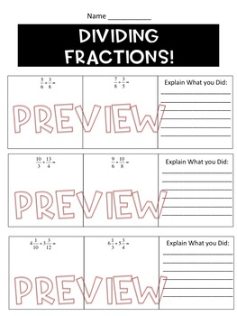 Adding, Subtracting, Multiplying and Dividing Fractions Worksheets