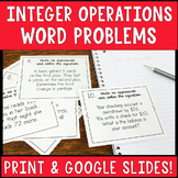 Integer Operations Word Problems Task Cards