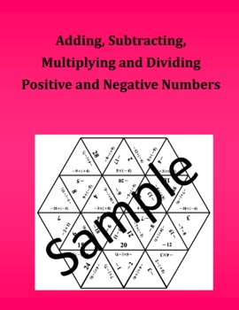 Adding, Subtracting, Multiplying and Dividing Positive and Negative Numbers