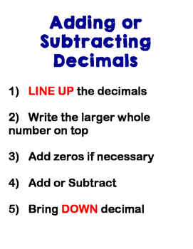 Adding, Subtracting, Multiplying and Dividing with Decimals