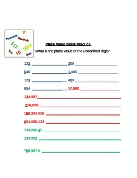 Adding, Subtracting, & Place Value Inventory