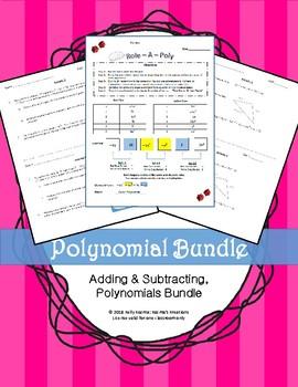 Adding & Subtracting Polynomials Bundle
