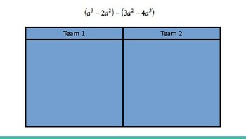 Adding & Subtracting Polynomials Challenge