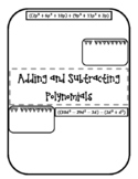 Adding & Subtracting Polynomials Doodle Notes
