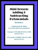 Adding  Polynomials: Mini-Lesson