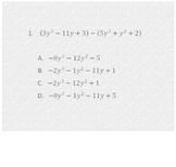 Adding & Subtracting Polynomials Multiple Choice Promethean Flipchart